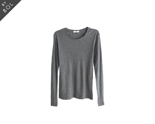 BOL loose sleeve cut top /gray