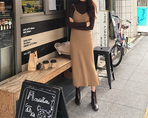 line knit dress / beige (당일출고)