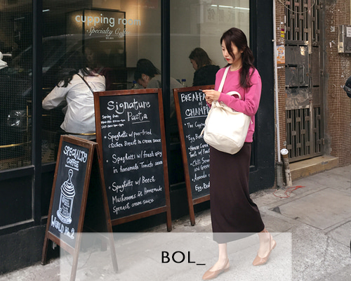 BOL soft long skirt / brown