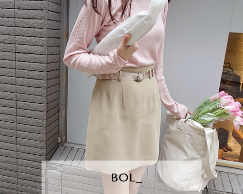 BOL color belt / gold beige