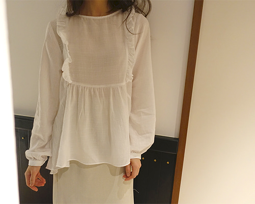 spring frill blouse / pink(당일출고)