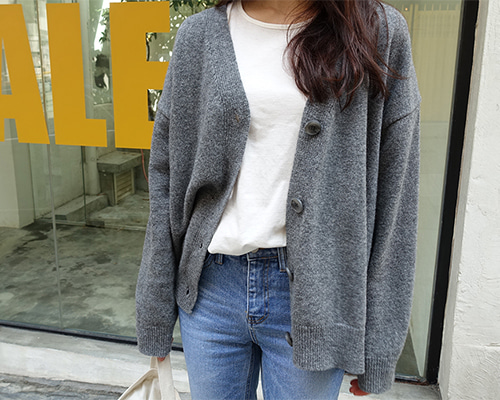 hug wool cardigan ( 3color)