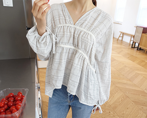 light square blouse(당일출고)