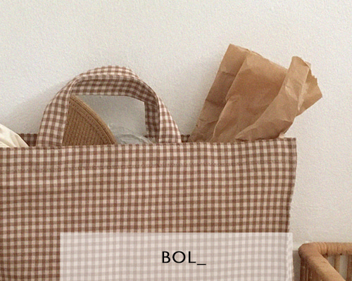 BOL square check bag / brown 재입고