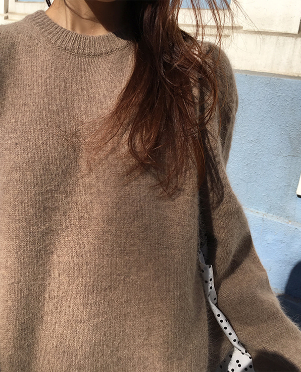 angora relax knit / brown