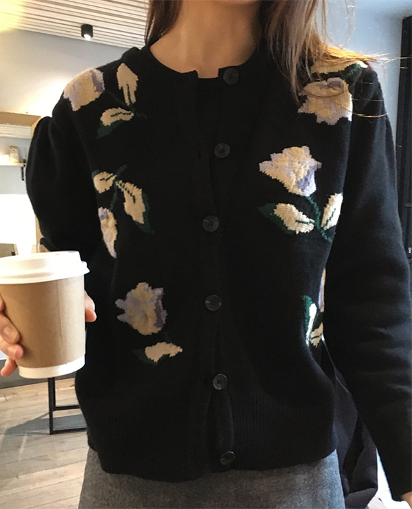 vintage flower cardigan ( 2color )