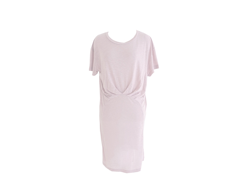 BOL simple shirring dress/pink