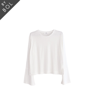 BOL pagoda sleeve top / white