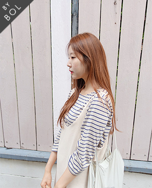 BOL natural stripe top /beige