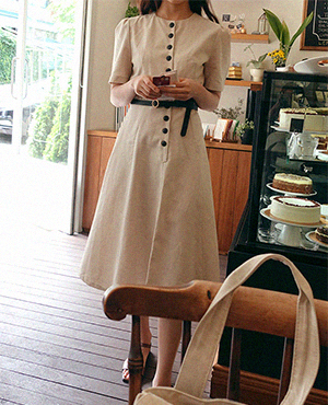 classic button dress 재입고