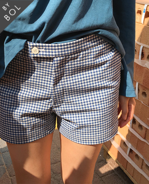 BOL check short pants / blue