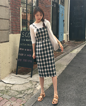 dotori check dress ( 2color )