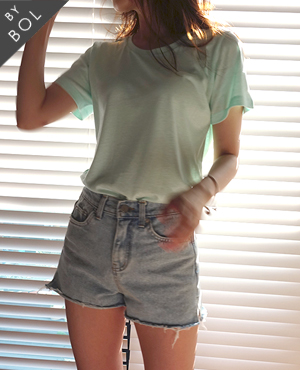 BOL simple short top / mint 1차재입고