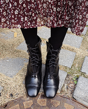 unique black boots
