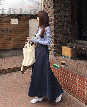 navy spread skirt