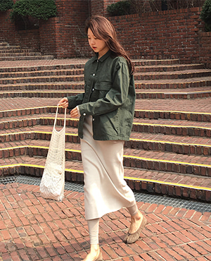 firm jacket ( dark green )