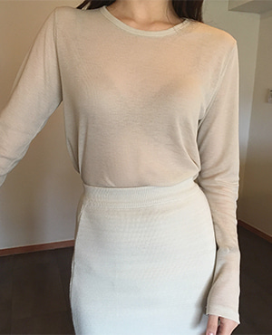 value long top / beige