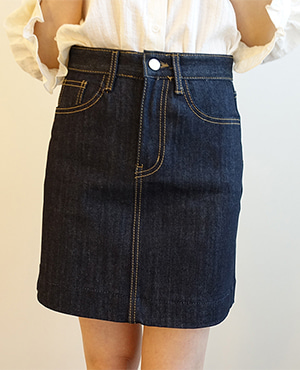 mini denim skirt