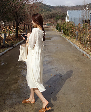 sense ribbon dress / ivory(당일출고)