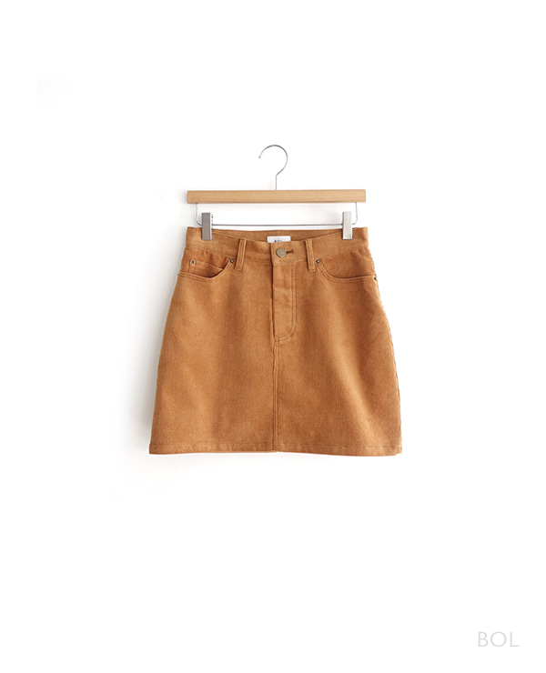 BOL corduroy skirt / brown