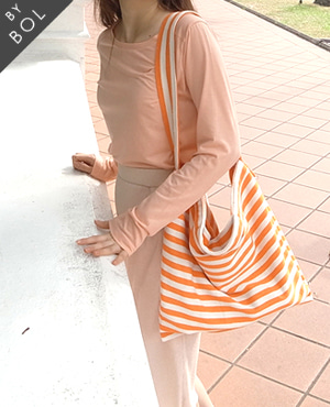 BOL bless bag / orange stripe