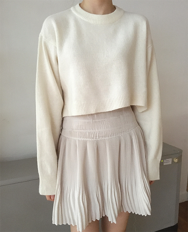 soft pleats skirt