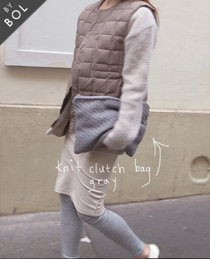 BOL knit clutch bag / gray 1차재입고